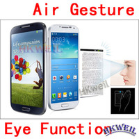 Wholesale 1 N9500 S4 MTK6589 Quad Core Cell Phone Air Gesture Original size inch Android Phone With MP Camera G RAM G ROM G GPS I9502