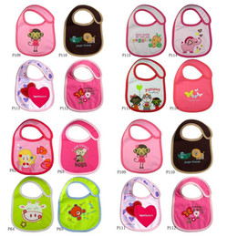 Wholesale Thicker Cotton Baby Bib Infant Saliva Towels Baby Waterproof Bib Cartoon Baby Wear With different Model