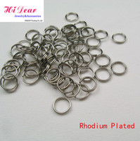 Wholesale Rhodium Plated Double Loops Steel Metal Open Jump Split Rings mm DIY Jewelry Findings Jewellery Making Accessories