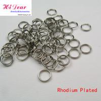 Wholesale Rhodium Plated Double Loops Steel Metal Open Jump Split Rings mm DIY Jewelry Findings Jewellery Making Accessories