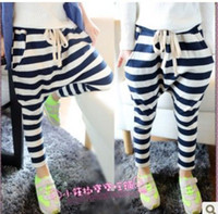 Wholesale new girls stripe harem pants kids fashion trousers children popular garment costume autumn clothing dkagmy