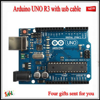 Wholesale 2015 NEW Arduino UNO R3 Board ATmega328 ATMEGA8U2 with USB cable