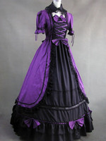 Wholesale Elegant Gothic Cotton Lolita Victorian Luxury Long Formal Dress party dresses for women u7 QT