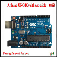 Wholesale 2012 NEW Arduino UNO R3 Board MEGA328P ATMEGA16u2 with USB cable
