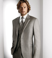 Wholesale High quality Groom Tuxedos Men s Wedding Dress Groom Wear Best Man Suits Groomsmen NO