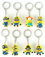 Wholesale New Despicable me Key Chains Metal Key Ring Party gifts