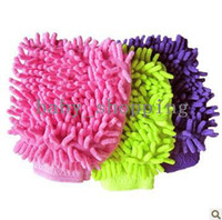 Wholesale FORREST SHOP Microfiber Chenille Car wash cleaning glove pieces high quality retail packaging FRH
