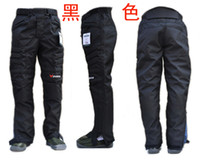 Wholesale Motorcycle Pants with two of knee pads Duhan Waterproof racing motorcycle trousers Full Black DK02