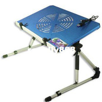 Panel 0  Brand New Folding Laptop Bed Desk With Fan Blue Free Shipping & Drop ShippingShipping Drop