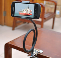For Apple For Ipad3 For 7 Brand New Flexible Rotatable Lazy Bed Tripod Holder Stand For Apple iphones iphone5 Mobile Phone Cell phone Free Drop Shipping