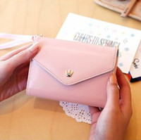 Wholesale Y619Crown Smart Case Pouch Lady Leather Wallet for iphone Samsung gifts Crown multipurpose smart phone package wallet card package color