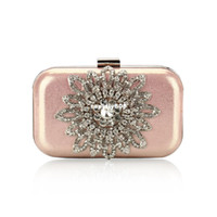 Wholesale 2013New diamond pink black candy color women clutch bag sparkle diamond flower women evening bag freeshippingShipping Drop