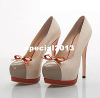 Wholesale Women s Shoes New Fashion women sexy Stiletto bowknot platform high heel shoes Female Formal Shoes Lady pumps Dress Shoes