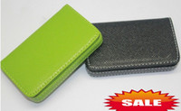 Business Card bank gift cards - Luxury PU leather business cards case bank credit card wallet cases holders box candy colors xmas gift