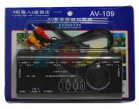 Wholesale 4 Input Output Switch AV Audio Video Signal Switcher AV109 Four to One Interface AV Switcher adds extra AV input for TV set Newest