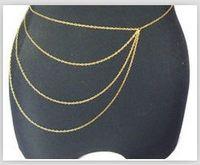 Wholesale 2013 New Alloy Gold Color Tassel Body Chain Women Vintage Waist Chains