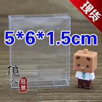 Wholesale 5 cm PVC clear packing box fashionable choice displaying candy birthday gift fruit cosmetics etc