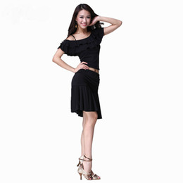 Wholesale Hot Sale Dance Wear Crystal Cotton Latin Women s Single Shoulder Performance Suit Sexy Ladies Solid Stage Wear Skinny Free Size GWY8