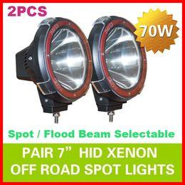Wholesale 2pcs quot W W HID Xenon Driving Light Off Road SUV ATV WD x4 Spot Flood Beam V H3 K IP67 Jeep Truck Fog Lamp Super bright Power