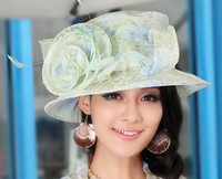 Wholesale Women hat church hat women organza hat ladies sun shading beach hat fashion haircord