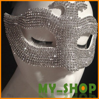 Wholesale Catwoman Mask cm Upscale Handmade Diamond Prom Party Halloween Masquerade Dance Half Masks JJ0006