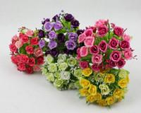 Wholesale Pastoral Style cm quot Length Artificial Silk Flowers Simulation QQ Rose Little Roses Wedding Flower Home Decoration