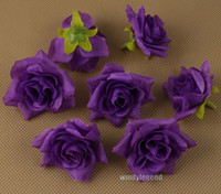 Wholesale MIC Purple Artificial Flower Making Flower Balls Tabble Scatters Decoration Craft Wedding Bouquet