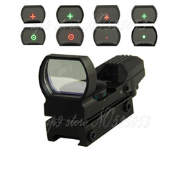 Tactical 1X22X33 Holographic 4 Reticle Reflex Red Green Dot Sight 20mm Rail for Airsoft Hunting Rifle Scope
