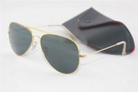Glass gold sunglasses - Fashion brand Mens Women Sun Glasses Designer gold frame Sunglasses beach sun glasses mm original box