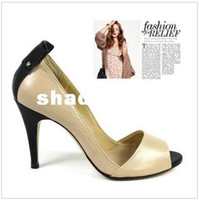 Wholesale new arrival style Fashion design open toe high heels big sizes lady high heel sexy shoes woman sandals