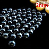 Wholesale mm black half round flatback pearls