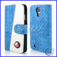 Wholesale Purse Design Leather Case Money Card Carrier Phone Cover with A Crystal Stone Clasp Flip Case For Samsung Galaxy Note n7100 S4 i9500 i9082