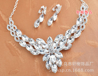 Alloy Crystal Sets Wedding Bridal jewellery,Accessories crystal veil tiara headband Phoenix Crown Necklace Earrings Sets