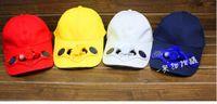Multicolor solar fan cap - Solar Baseball peaked cap solar hat solar fan cap with switch battery