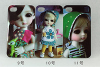 Wholesale Latest style doll Glitter Bling Shining Hard Back Case for iphone HK China post shipping free MOQ I0046