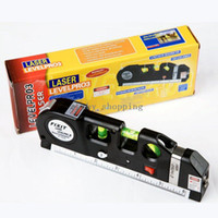 Wholesale Multipurpose Laser Level Horizon Vertical Measure Tape Aligner FT Freeshipping Dropshipping