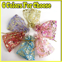 Wholesale Tissue gift wrap paper x Organza Jewelry Candy Party Favor Pouch Pack Wedding Gift Sweet Package Bag
