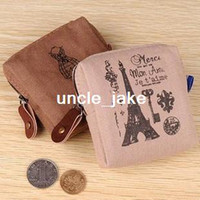 Men PP Wallet Min. order is $15 (mix order) Aq2781 vintage eiffel tower fluid cloth pencil case storage small bags coin pocket