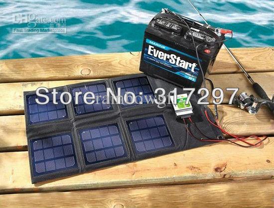 18 watt folding solar panel with 10 amp controller 12v car. Black Bedroom Furniture Sets. Home Design Ideas