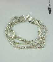 Wholesale Bracelet the new five rows of high quality diamond braceles