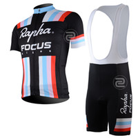 Wholesale 2013 RAPHA Bike Racing short sleeve Cycling Jersey cycling Bib shorts Pants silica gel Bike Bicycle Jersys QUICK DRY Black clothing