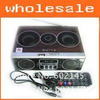Universal su12 - Fashion High Quality Mini Sound box MP3 player Mobile Speaker boombox FM Radio SD Card reader USB SU12