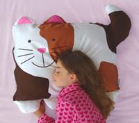 Wholesale Pillow Case Retail DOOMAGIC Cat Baby Pet Pillowcase Children s Pillow Covers Cartoon Pillowslip Pillow Sheath D217