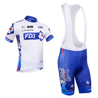 Wholesale 2013 FDJ Team cycling jersey cycling clothing cycling wear shorts bib suit FDJ A