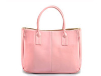 Women Plain PU On sale Faux Leather Women's Tote Shoulder Bags Handbag Red Brown Pastel Pink Beige Korea tote
