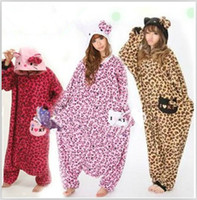Regular acrylic animal costumes - Leopard print Cat Cosplay Costumes Animal Leopard Kigurumi Anime Pyjamas Sleepwear