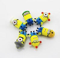Wholesale real gb gb gb gb gb novelty cartoon Minions Despicable Me USB Flash Drive Memory Stick pen drive pendrive drop US0734