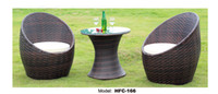 Wholesale outdoor rattan furniture outdoor garden rattan table chair set rattan chairs and tables TGC