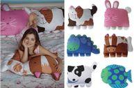 Wholesale Hot New Super Cute Doomagic cartoon animals pillowcase hold pillow case back cushion pillowcase