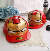 Wholesale Newest Iron Man Snapback Hat Vintage Cool Baseball Caps With Skull For Men And Women